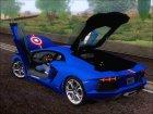 Lamborghini Aventador LP700 2012 Captain America для GTA San Andreas вид сбоку