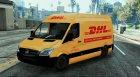 Mecedes Sprinter 311 CDI Cargo Van + 5 Extras for GTA 5 left view