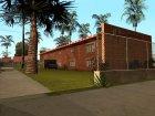 Новые текстуры двухэтажных домов на Грув Стрит для GTA San Andreas вид слева