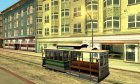 The tram is white with bright green stripes для GTA San Andreas вид сверху