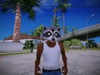 Raccoon mask (GTA V Online) для GTA San Andreas вид слева
