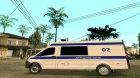 ГАЗель NEXT Полиция for GTA San Andreas rear-left view
