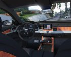 2012 Audi A8L W12 1.1 for GTA 5 rear-left view