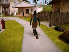 "Скин Корры из ""Аватар: Легенда о Корре"" для GTA San Andreas вид сзади слева"