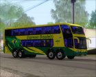 Marcopolo Paradiso G6 1800DD 8x2 SCANIA K420 Brasilian Bus Lines for GTA San Andreas rear-left view