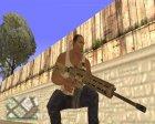 Пак оружия GTA 5 v2 for GTA San Andreas back view
