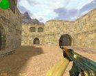 AK-47 Поверхностная закалка для Counter-Strike 1.6 вид сзади слева