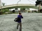 Спортивная сумка Puma v1 для GTA San Andreas вид сзади слева