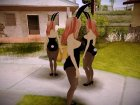 Sonico Bunnygirl for GTA San Andreas rear-left view