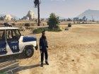 Russian Traffic Officer Dark Blue Jacket for GTA 5 left view