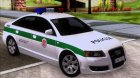Audi A6 C6 Lithuanian Police for GTA San Andreas rear-left view