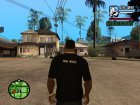 Футболка с логотипом Game World for GTA San Andreas left view
