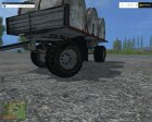 HW Water Milk Barrel V 1.0 for Farming Simulator 2015 back view