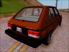 1986 Dodge Shelby Omni GLHS для GTA San Andreas вид сзади слева