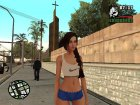 Girl from The Sims 4 для GTA San Andreas вид слева