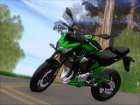 Kawasaki Z800 Monster Energy для GTA San Andreas вид слева