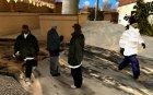 Новый Год на Гроув Стрит для GTA San Andreas вид слева
