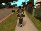 Пожарник из GTA 4 для GTA San Andreas вид слева