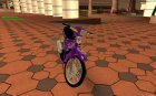 Purple modified Honda Dream 100cc form VN Racing Boy