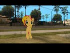 Sunset Shimmer (My Little Pony) for GTA San Andreas rear-left view