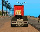 Scania R620 McDonald's for GTA San Andreas inside view