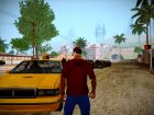 Red Mohawk and Black Stubbles для GTA San Andreas вид сзади слева