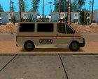 Ford Transit Security для GTA San Andreas вид сверху