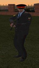 Капитан милиции России в кителе для GTA San Andreas вид сзади
