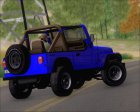 Jeep Wrangler for GTA San Andreas top view