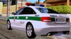Audi A6 C6 Lithuanian Police for GTA San Andreas left view