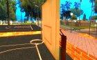Новая баскетбольная площадка для GTA San Andreas вид сзади слева