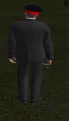 Капитан милиции России в кителе для GTA San Andreas вид справа