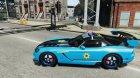 Dodge Viper SRT-10 ACR 2009 Police ELS for GTA 4 left view