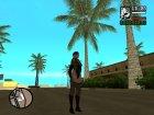 """Джилл в откровенной одежде """"Miss Valentine"""" для GTA San Andreas вид слева"""