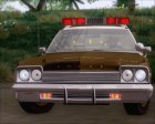 Dodge Monaco 1974 RCSD Lightbar Version для GTA San Andreas вид изнутри