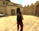 Red Guerilla Reskin for Counter-Strike Source rear-left view