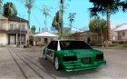 Police car New v 1.0 for GTA San Andreas rear-left view