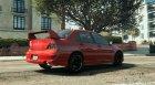 Mitsubishi Lancer Evolution IX MR для GTA 5 вид сзади слева