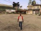Футболка с красными плечами для GTA San Andreas вид сзади слева