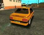 Peugeot 405 Slx Taxi для GTA San Andreas вид сзади слева
