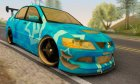 Mitsubishi Lancer Evolution VII Blue Star for GTA San Andreas rear-left view
