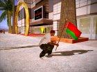Флаг Беларусь for GTA San Andreas rear-left view