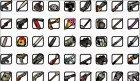 Цветные, HD иконки оружия для GTA San Andreas вид сверху