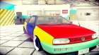 VW Golf MK3 Harlequin Design для GTA San Andreas вид слева