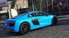 2017 Audi R8 1.0 for GTA 5 rear-left view