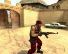 Red Guerilla Reskin for Counter-Strike Source left view