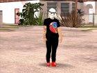 Skin HD GTA V Online в маске Star wars для GTA San Andreas вид сбоку