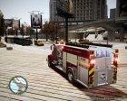 Новая пожарная машина для GTA 4 вид сзади слева