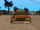 ВАЗ 2107 Ржавый Гринго for GTA San Andreas top view