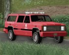 FBI Rancher - Metro Fire Battalion Chief 69 for GTA San Andreas inside view